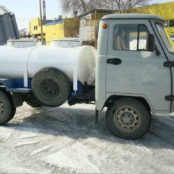 Молоковоз-цистерна с рефрижераторной установкой на шасси УАЗ 36221