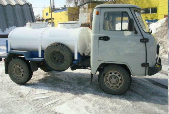 Молоковоз-цистерна с рефрижераторной установкой на шасси УАЗ 36221 - Изображение1