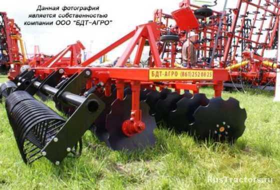 Борона дисковая БДМ двухрядная производства БДТ-АГРО