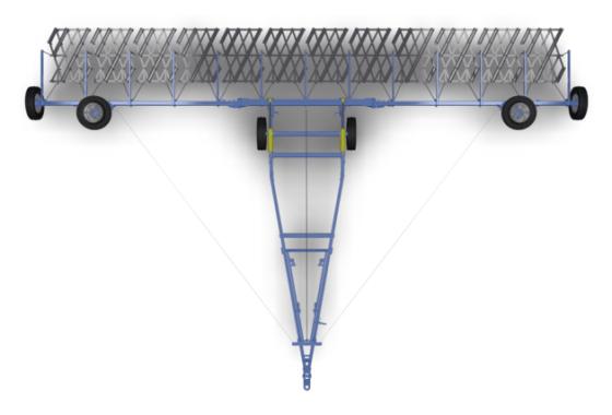 Сцепка  широкозахватная гидрофицированная - Изображение1