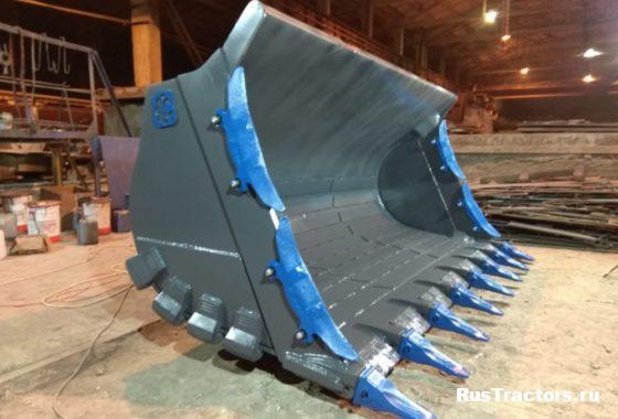 Ковш скальный усиленный (V-3m3) для фронтального погрузчика SDLG956L (3)